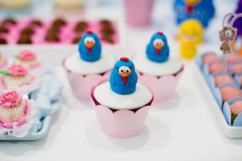 detalhe cupcake galinha